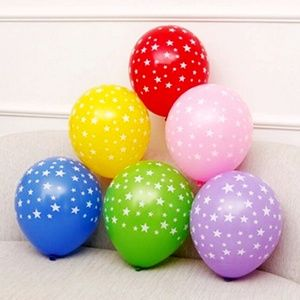 Star Latex Balloons, Colorful Party Decor 🌸
